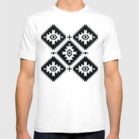 NavNa BW Mens Fitted Tee White SMALL