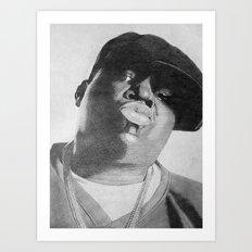 Notorious B.I.G Art Print