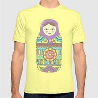 Russian Doll Mens Fitted Tee Lemon SMALL