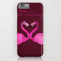 iPhone & iPod Case featuring Love is the message by Marco Recuero