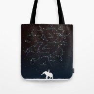 Falling Star Constellati… Tote Bag
