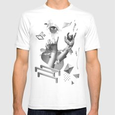 Hands White Mens Fitted Tee SMALL