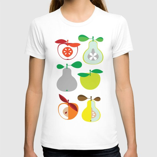 Apples and Pears / Geometrical 50s pattern of apples and pears T-shirt