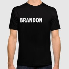 BRANDON / Vince T-Shirt Mens Fitted Tee Black SMALL