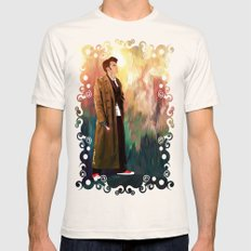 The 10th Doctor who with abstract background iPhone 4 4s 5 5c 6, pillow case, mugs and tshirt Mens Fitted Tee Natural SMALL