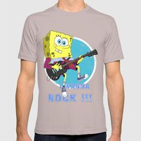 i wanna rock !!! Mens Fitted Tee Cinder SMALL