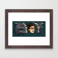 Terror Dog Framed Art Print