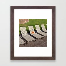 Pizza Vacay Framed Art Print