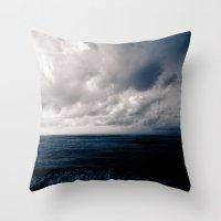summer ver.navyblack Throw Pillow