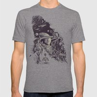 Stranded On Alpha Centau… Mens Fitted Tee Tri-Grey SMALL