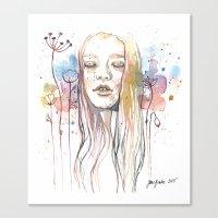 Meditation, Watercolor  Canvas Print