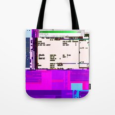 Office Life Glitch Tote Bag