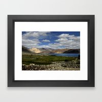 Lakeside Pangong Framed Art Print