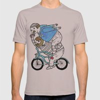 On how bicycle riders utilize team work in certain situations. Mens Fitted Tee Cinder SMALL