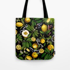 LEMON TREE Black Tote Bag