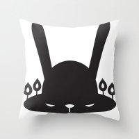 BLACK POND Throw Pillow