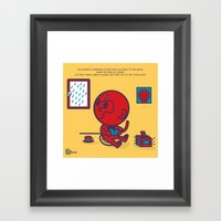 The Monkey And The Rain Framed Art Print