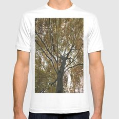 Tree Webs White SMALL Mens Fitted Tee