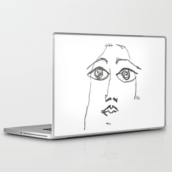 Woman gazing Laptop & iPad Skin