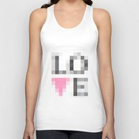 Exaggerated Pixelated LOVE Unisex Tank Top