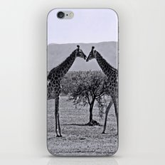 Giraffe talk iPhone & iPod Skin