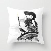 Oboe Warrior Throw Pillow