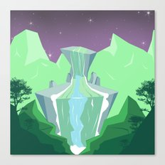 Waterfall from stone Canvas Print
