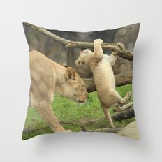 Having my Back Throw Pillow
