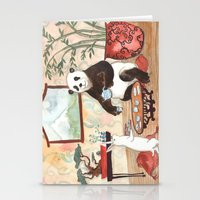 Tea with Panda Stationery Cards