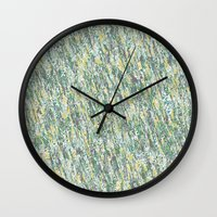 Teal Forest Wall Clock