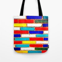 Vibrant Brick Tote Bag