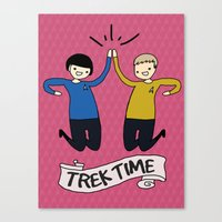 Trek Time Canvas Print