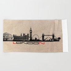London city Beach Towel