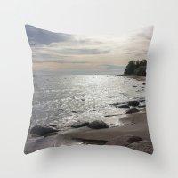 Seascape with stones Throw Pillow