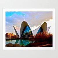 Aquarium: Valencia, Spai… Art Print