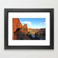 Chain Reaction Smith Rock, OR Framed Art Print