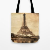 Vintage Eiffel Tower 2 Tote Bag