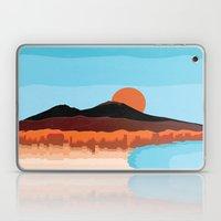 Landscape of Naples with volcano Vesuvio Laptop & iPad Skin