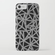 Abstract New White on Black iPhone 7 Slim Case
