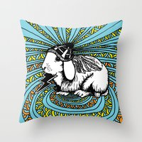 Patrick Swayze the rabbit Throw Pillow