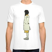 The Coat Mens Fitted Tee White SMALL