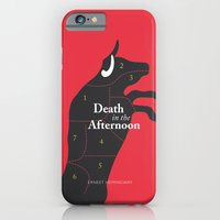 iPhone & iPod Case featuring Ernest Hemingway book Cover & Poster - Death in the Afternoon by Stefanoreves