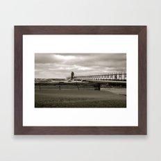 Lighthouse in South Haven, MI Framed Art Print