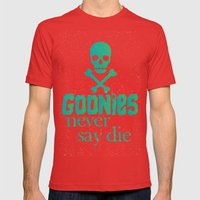 Goonies never say die Mens Fitted Tee Red SMALL