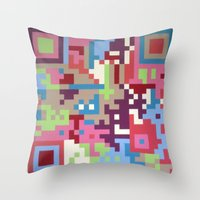 Number Four Multicolour  Throw Pillow
