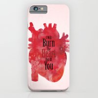 iPhone & iPod Case featuring Burn the Heart Out of You by Elliott Junkyard