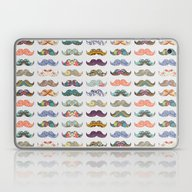 Laptop & iPad Skin featuring Mustache Mania by Bianca Green