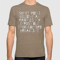Impossible things... Mens Fitted Tee Tri-Coffee SMALL