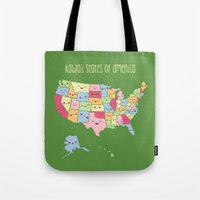 Kawaii States of America Tote Bag