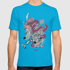 Samurai Hustle Mens Fitted Tee Teal SMALL